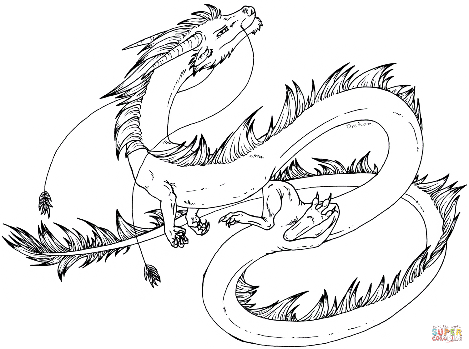 Dragon Coloring Pages Eastern