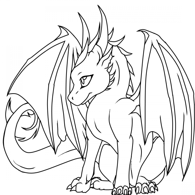 Dragon Coloring Pages Printable Free
