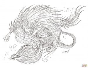 dragon coloring pages sea serpent  free coloring pages