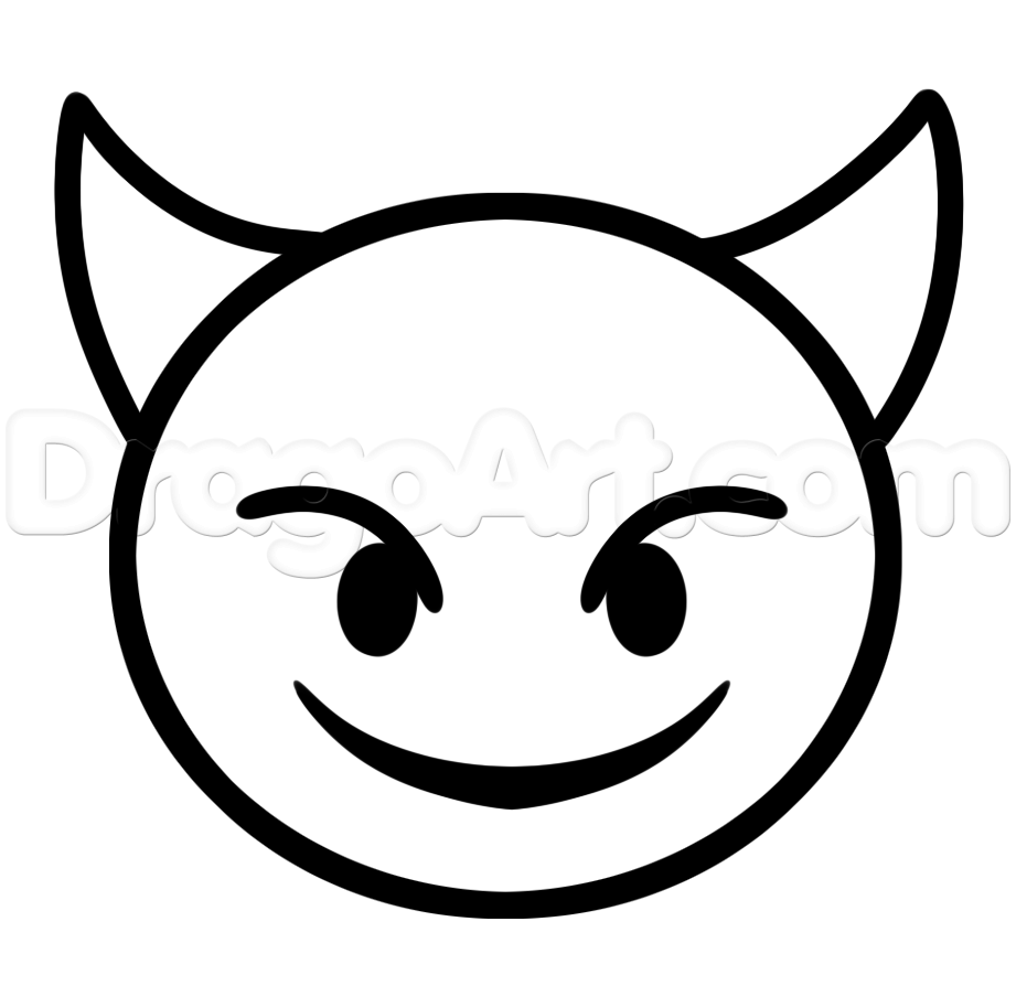 Emoji Coloring Pages Devil