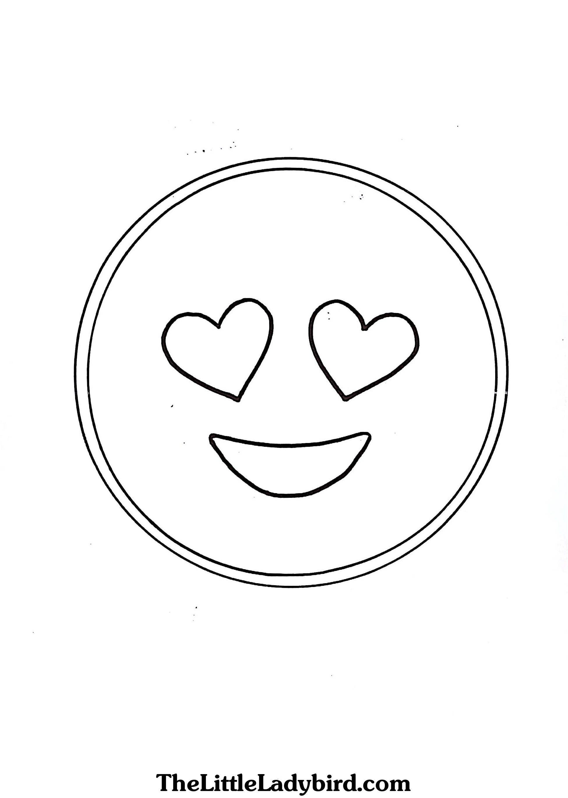 Emoji Coloring Pages In Love Only Coloring Pages