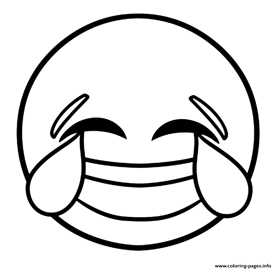 Emoji Coloring Pages Laughing Face