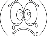 Emoji Coloring Pages Sad Cry Face 152x116