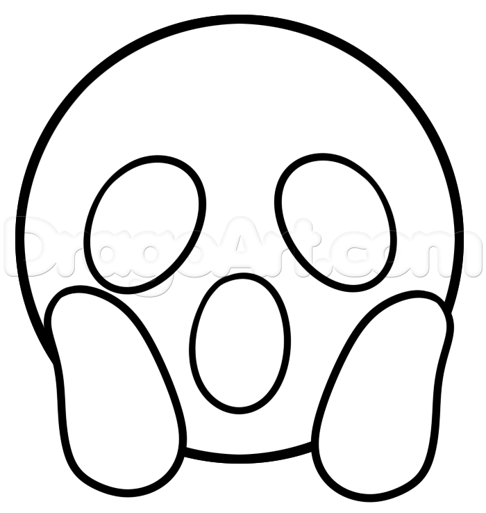 Emoji Coloring Pages Surprised Free Coloring Pages Printable
