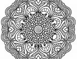Hard Kaleidoscope Coloring Pages 152x116