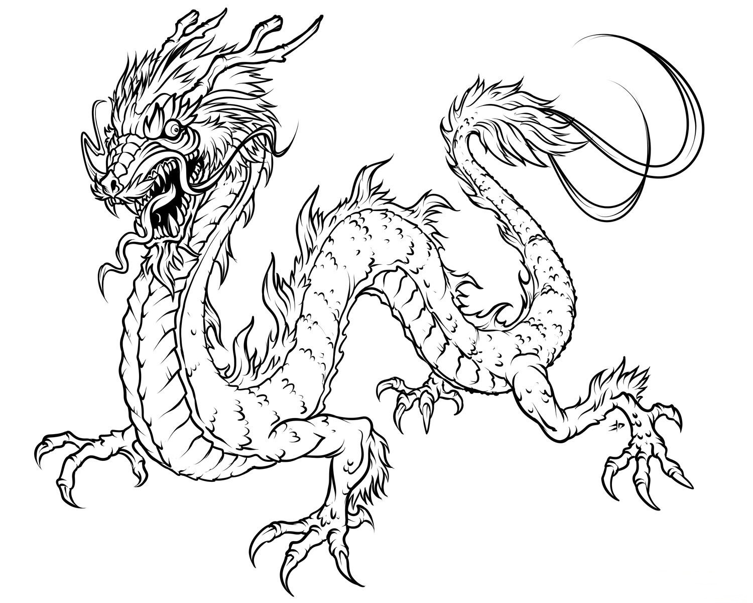 Horror Dragon Coloring Pages