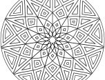 Kaleidoscope Coloring Pages Geometric 152x116