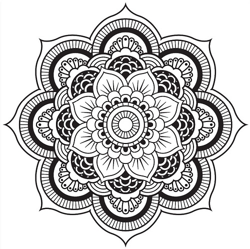 Kaleidoscope Coloring Pages Printable Free Only Coloring