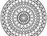 Kaleidoscope Coloring Pages to Print 152x116