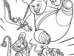 Kung Fu Panda 2 Coloring Pages 152x116