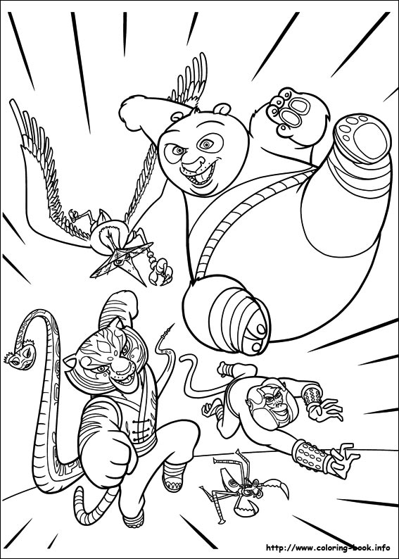 Kung Fu Panda 2 Movie Coloring Pages