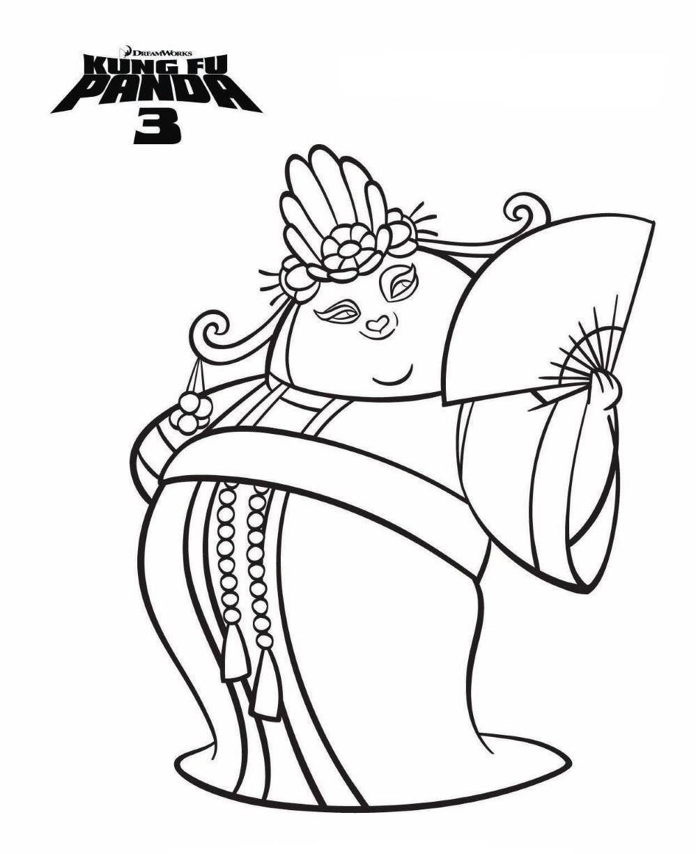 Kung Fu Panda Tigress Coloring Pages Only Coloring Pages