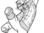 Kung Fu Panda Tigress Colouring Sheet for kids 152x116