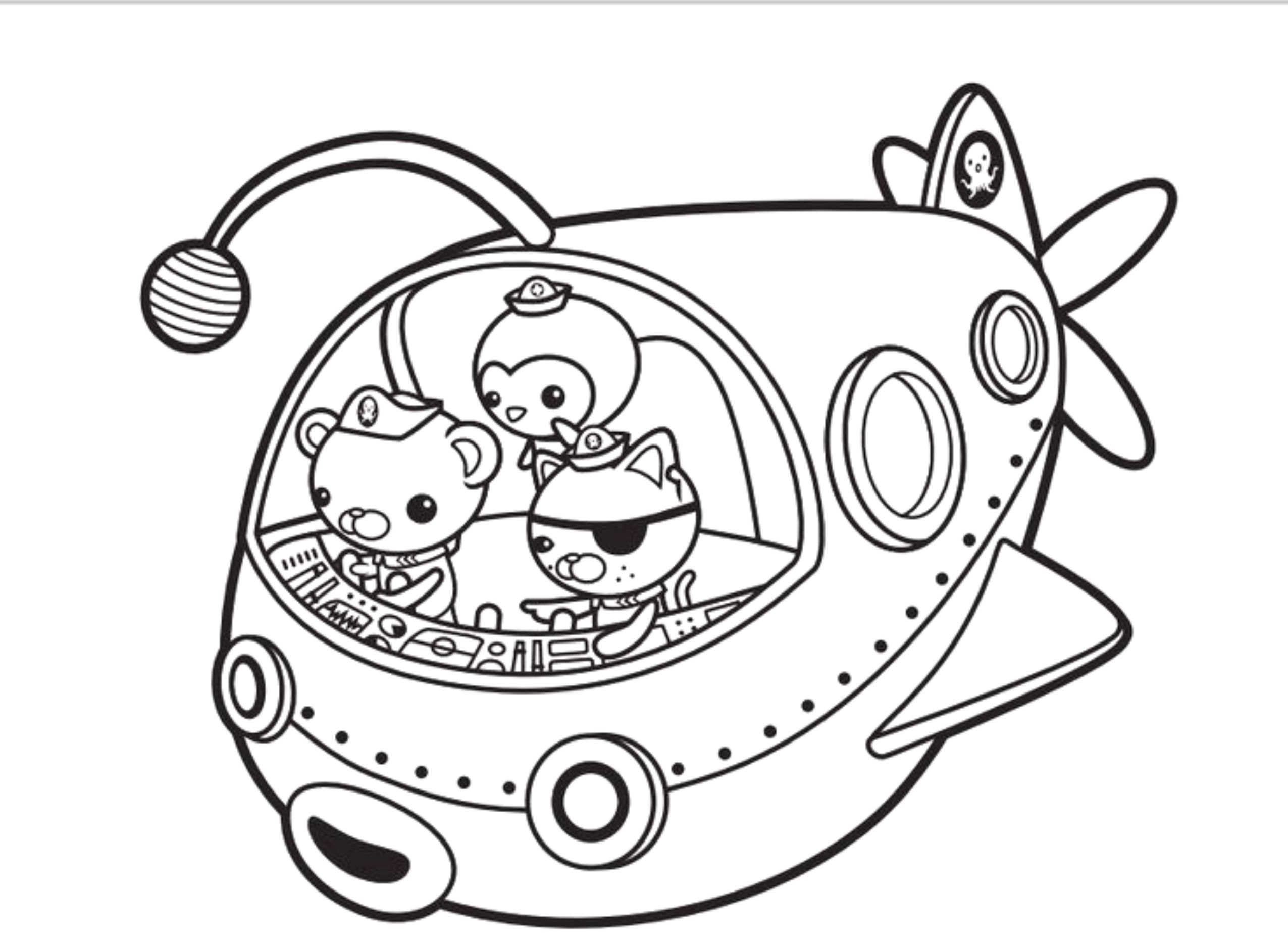 Octonauts Coloring Pages With Octonauts