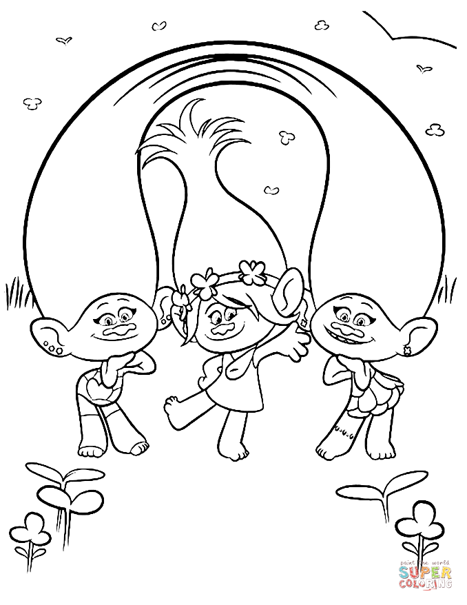 TROLLS coloring pages 01