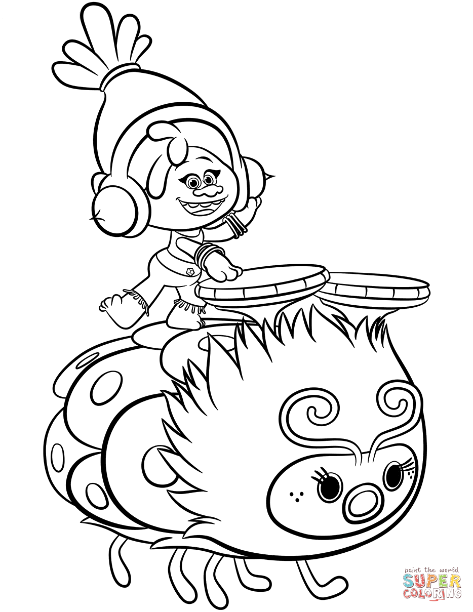 TROLLS coloring pages 04