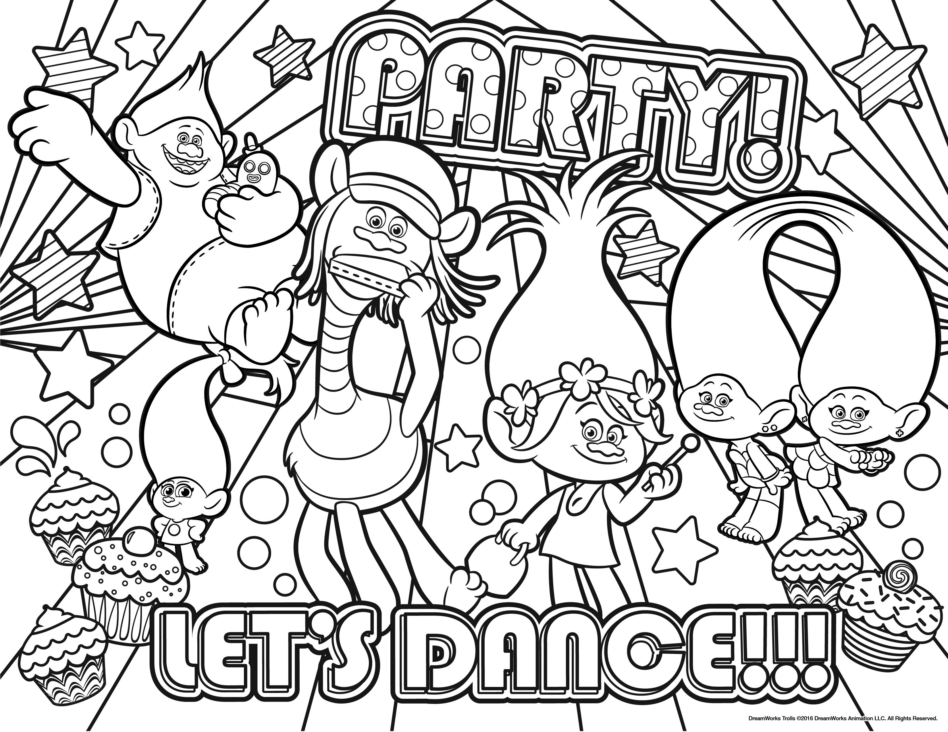 Free Printable Trolls Coloring Pages