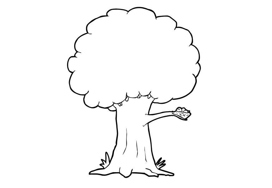 Tree Coloring Pages 06