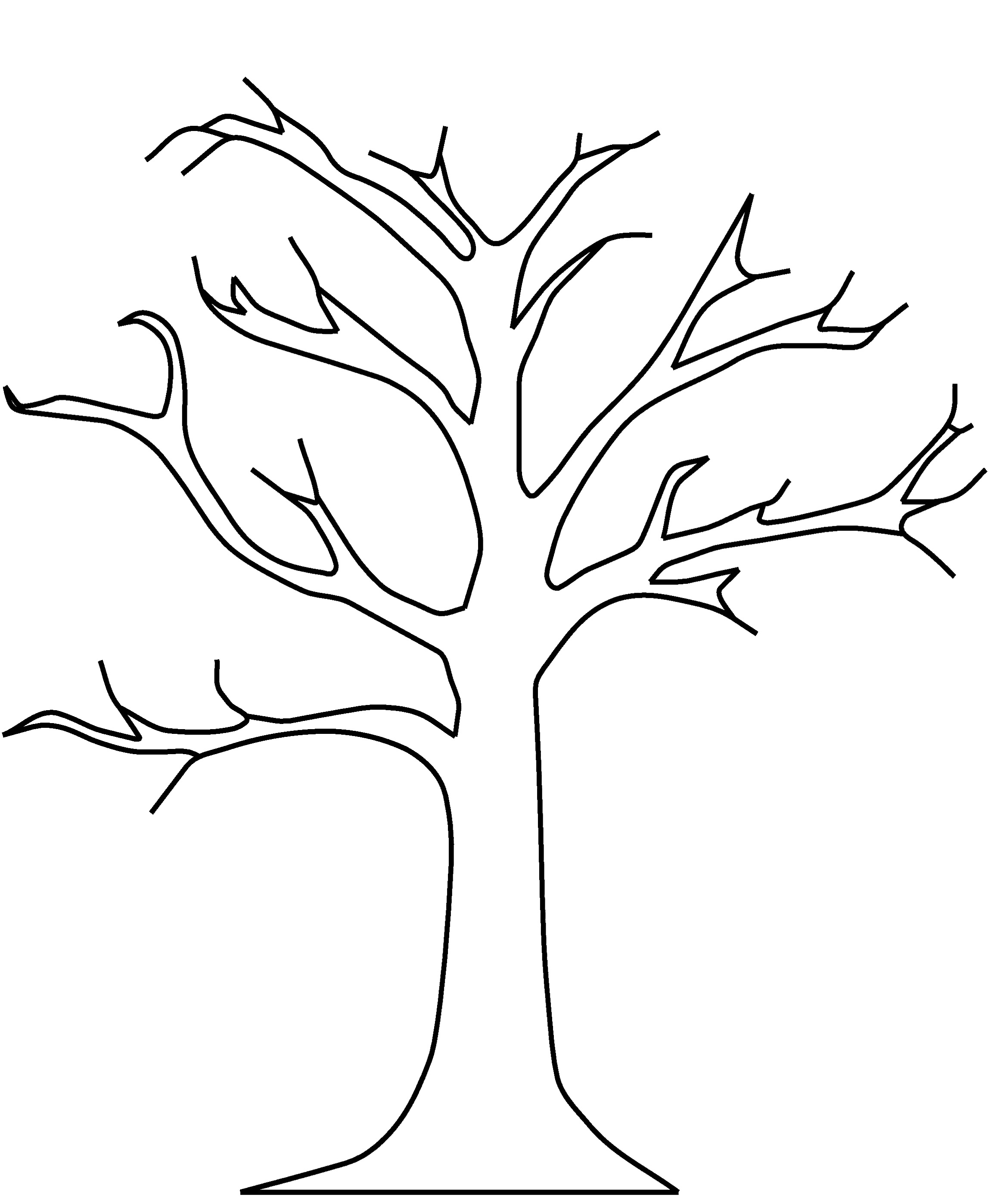 Tree Coloring Pages 09