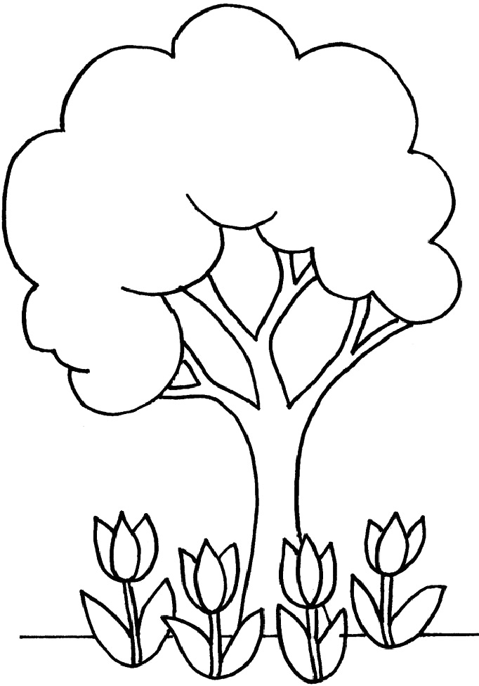Tree Coloring Pages 10