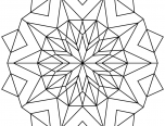 Kaleidoscope Coloring Pages