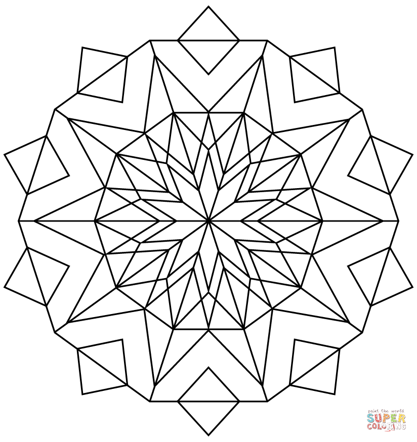 Awesome Kaleidoscope Coloring Picture Only Coloring Pages