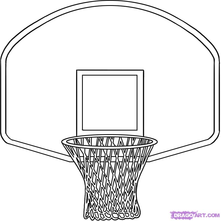 basketball hoop coloring page