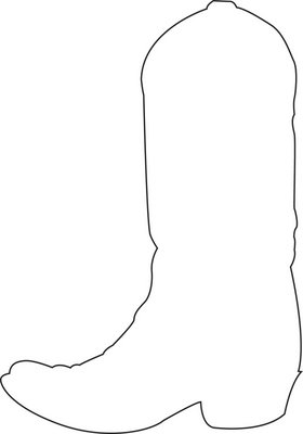 free printable cowboy boot template