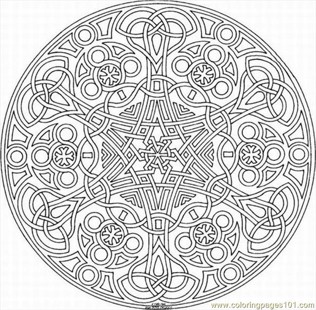 kaleidoscope coloring page for adults 2017