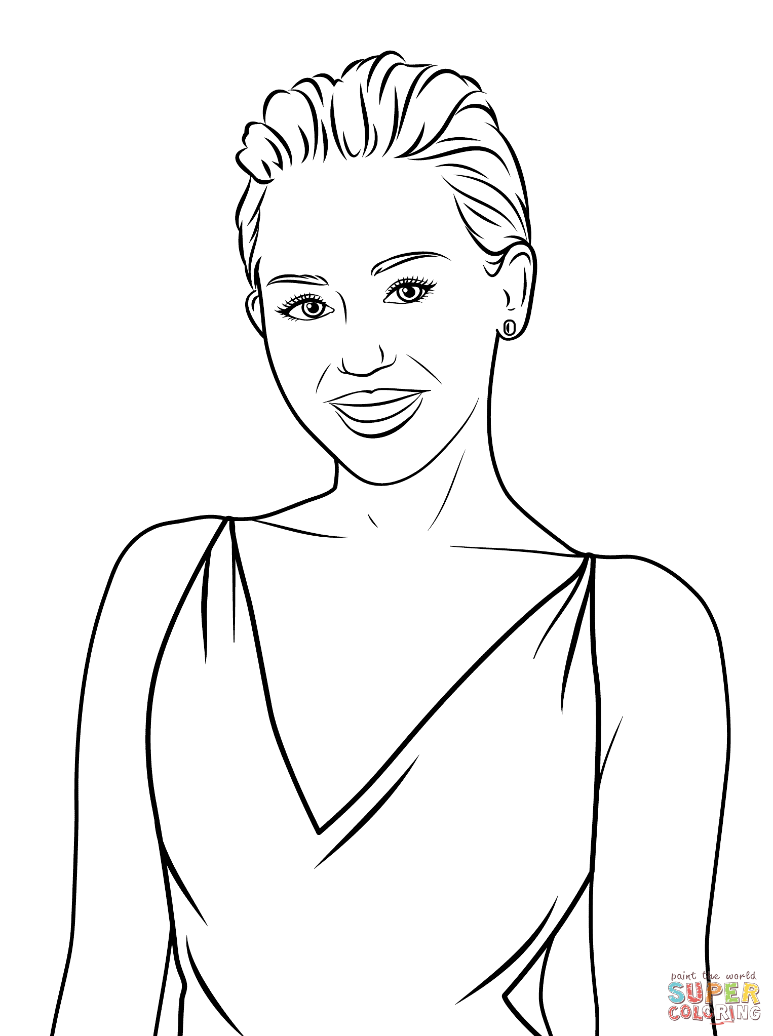 Miley Cyrus Coloring Pages Free Printable Online Miley