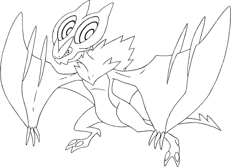 Pokemon noivern coloring pages