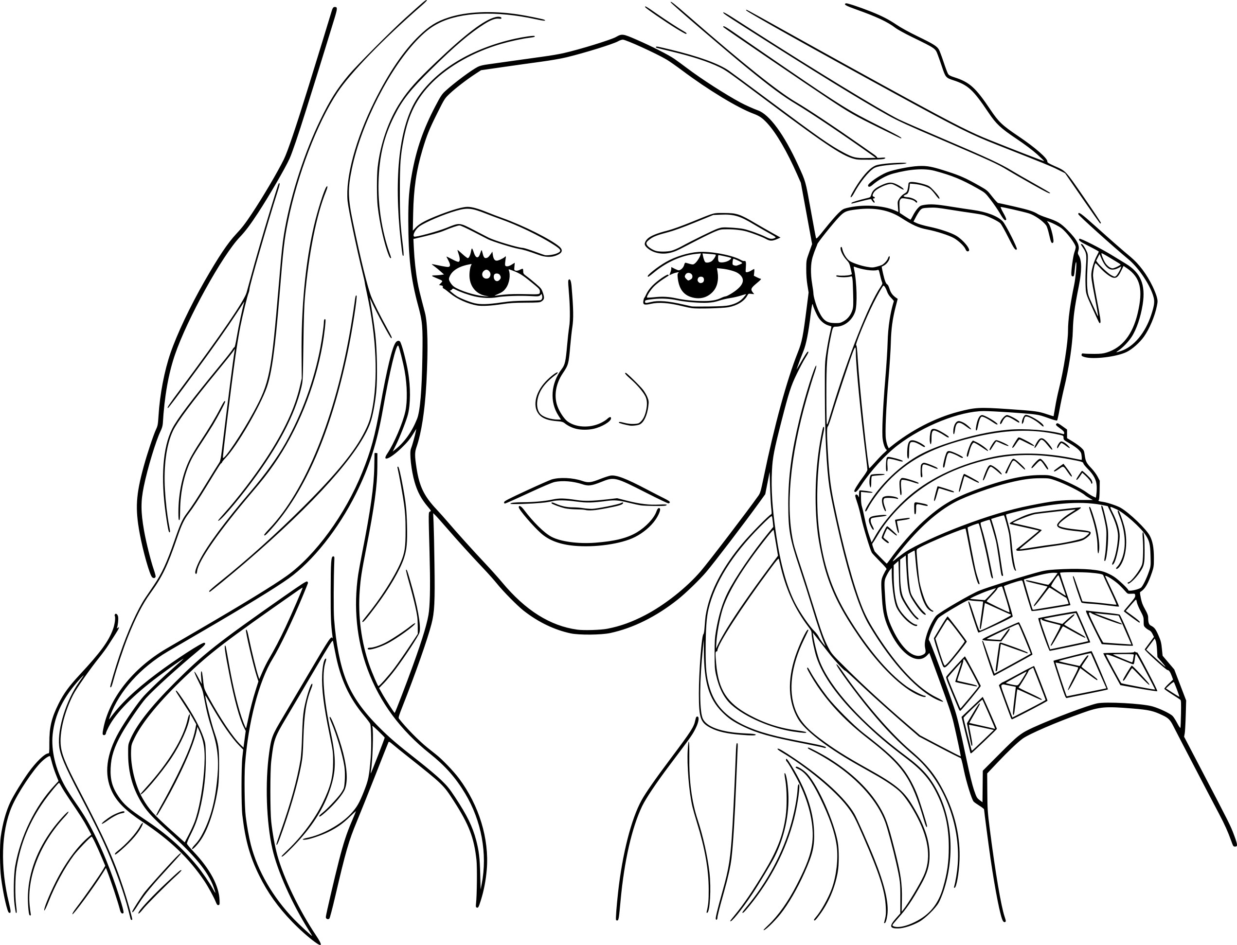 shakira, pages, coloring