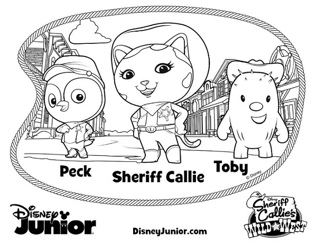 sheriff callies wild west coloring pages