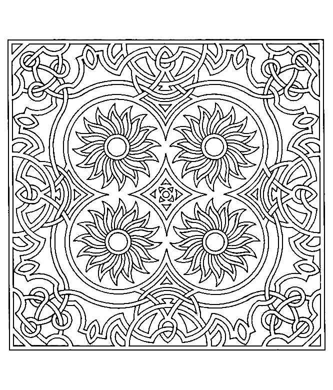 Symmetrical Coloring Pages Free Printable Online Symmetry Coloring Pages