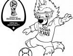 world cup 2018 symbol coloring page