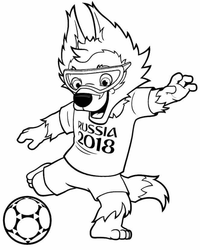 toddlers, pages, Mascot, fifa, coloring, 2018