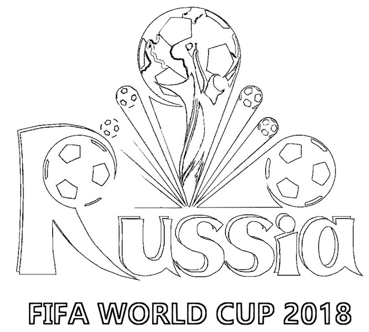 russia fifa word cup 2018 coloring page for kids