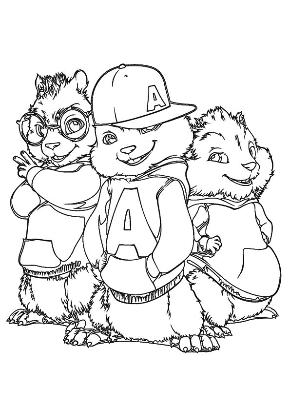 pages, coloring, chipmunks, alvin