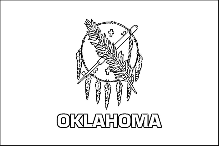 state, page, oklahoma, Flag, coloring