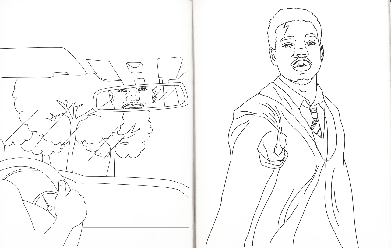 chance the rapper coloring pages free