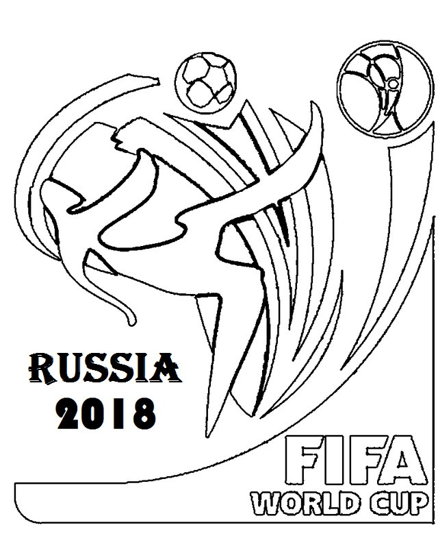 world cup 2018 footballer soccer coloring page