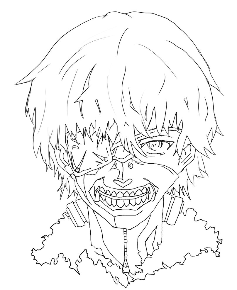 anime coloring pages tokyo ghoul printable