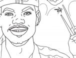 rapper, pages, coloring, chance