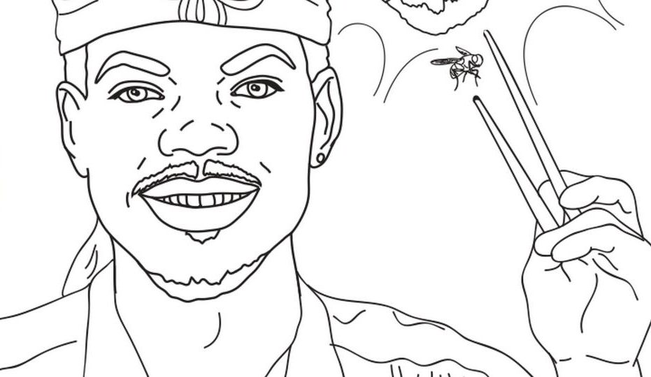 chance the rapper coloring pages printable