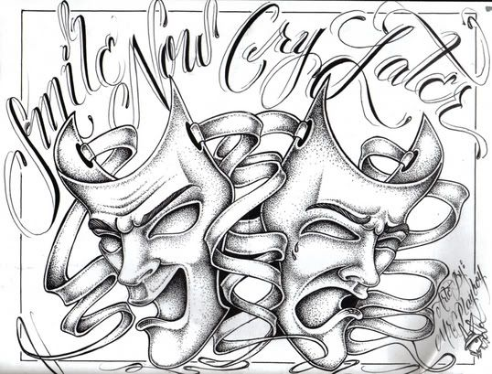 smile now cry later coloring pages online