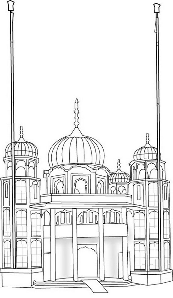 sheet, gurdwara, colouring
