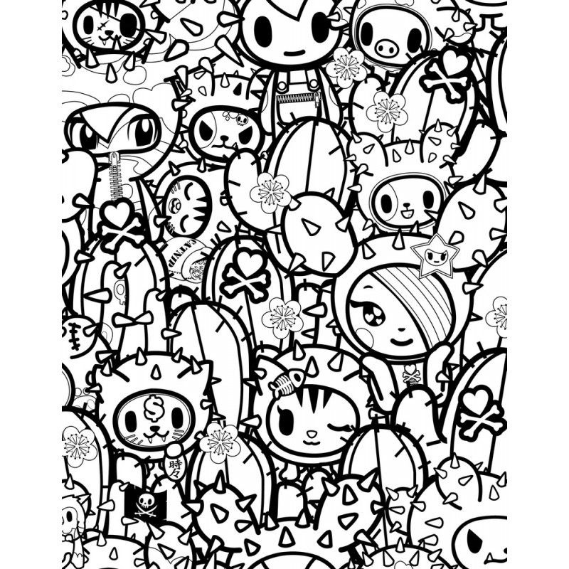 tokidoki, toddlers, pages, coloring
