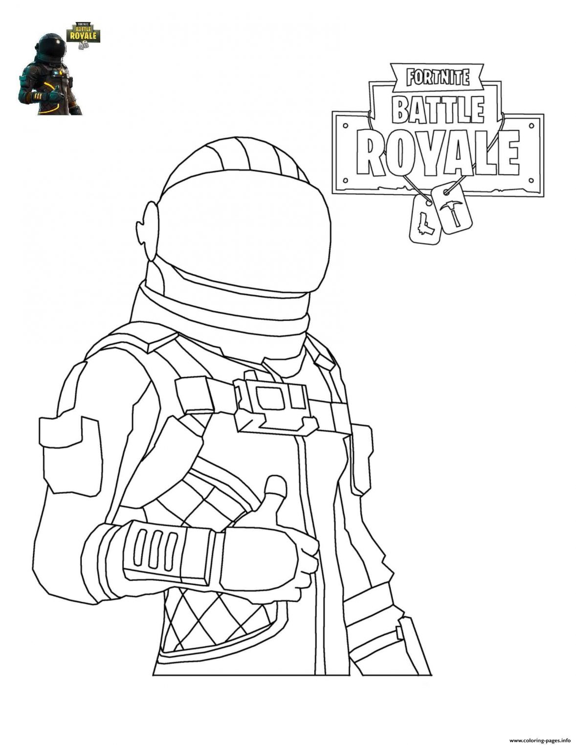 FORTNITE10 | Free coloring pages printable for kids and adults