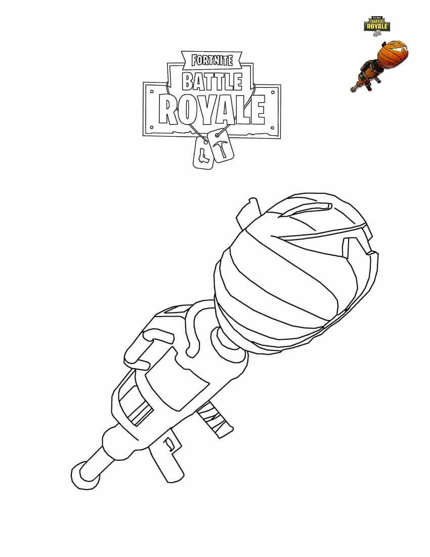 Fortnite11 Free Coloring Pages Printable For Kids And Adults