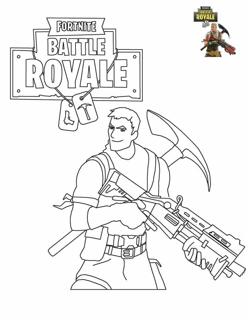 Fortnite5 Free Coloring Pages Printable For Kids And Adults